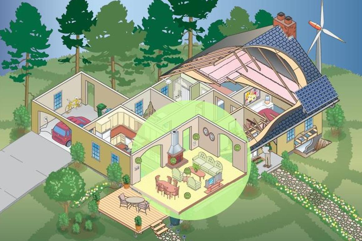 The Eco-Cool Remodel Tool allows you to take a virtual tour through a house for green improvement ideas