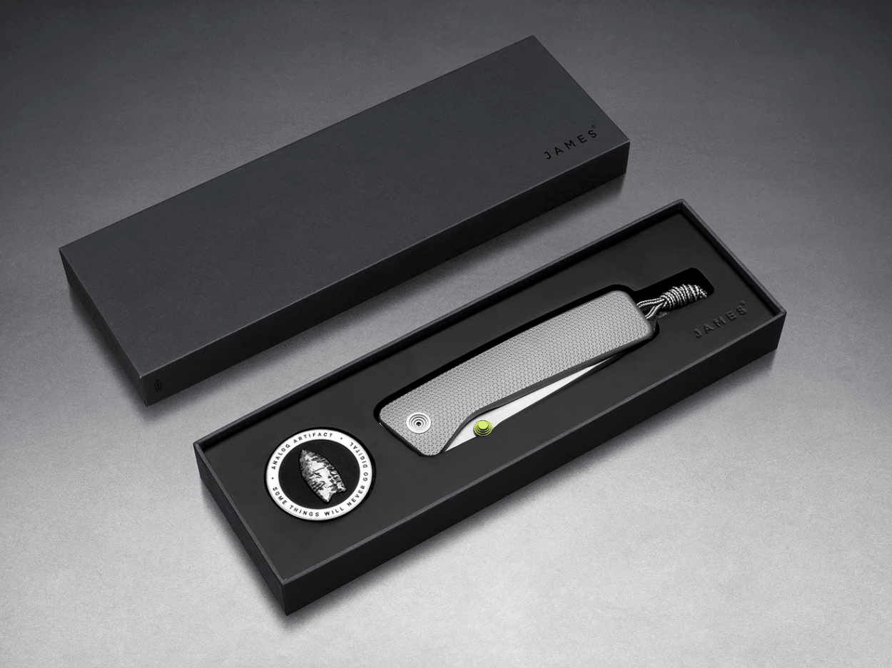 The Barnes integral knife comes with a special coin