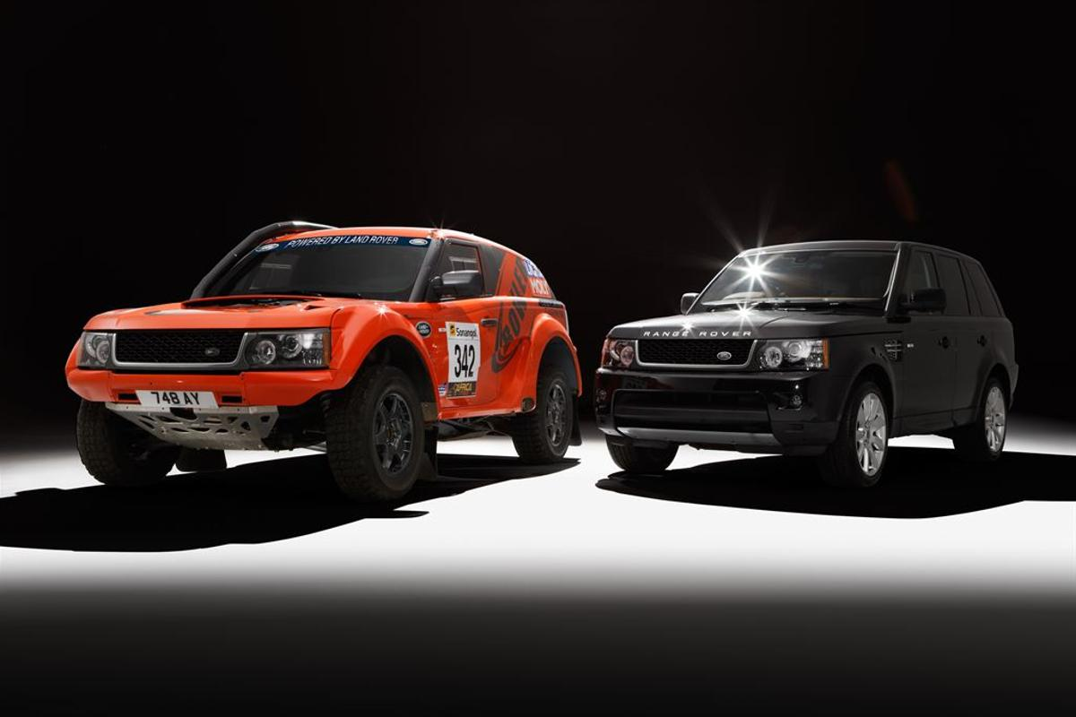 The EXR rally car pulls key components out of Land Rover's garage
