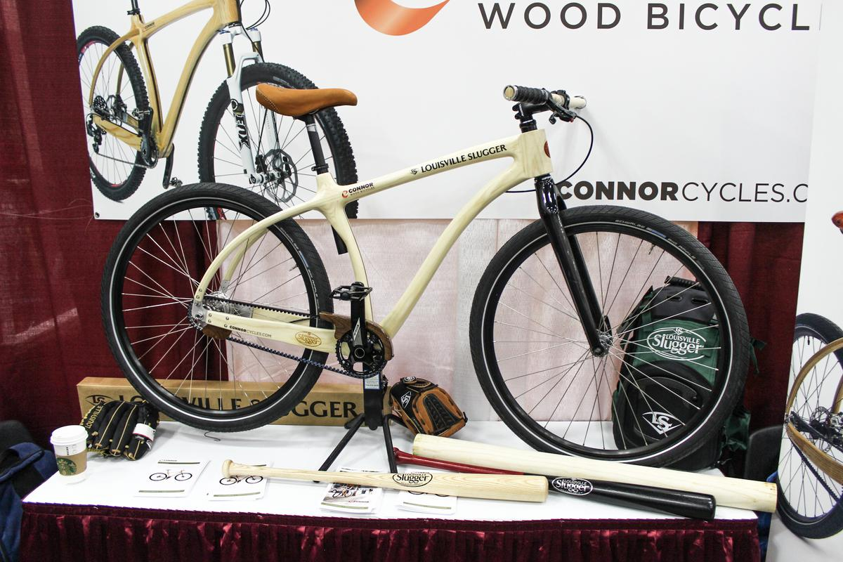 The Louisville Slugger Wood Bat Bike, on display at NAHBS 2015 (Photo: Ben Coxworth/Gizmag.com)