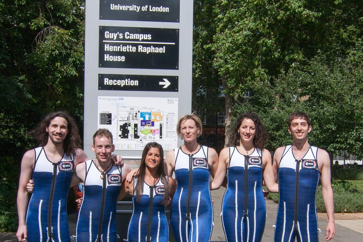 King's College London students sporting the gravity loading countermeasure skinsuit (Photo: King's College London, CHAPS)