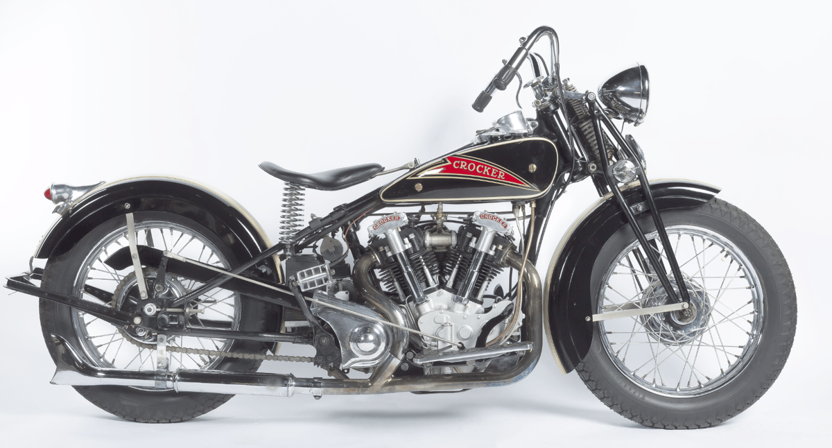 "Assembled by the Wheels Through Time Transportation Museum in North Carolina, this 1936 ""Hemi Head"" Crocker has engine number 36 61 8 (number #8), makes it the earliest example ever offered at public auction."