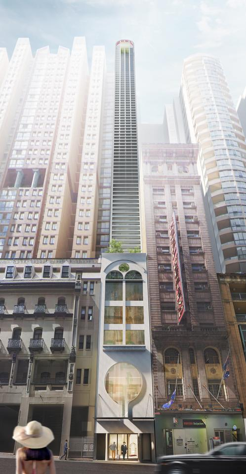 The Pencil Tower Hotel would serve as a boutique hotel and host six rooms per floor