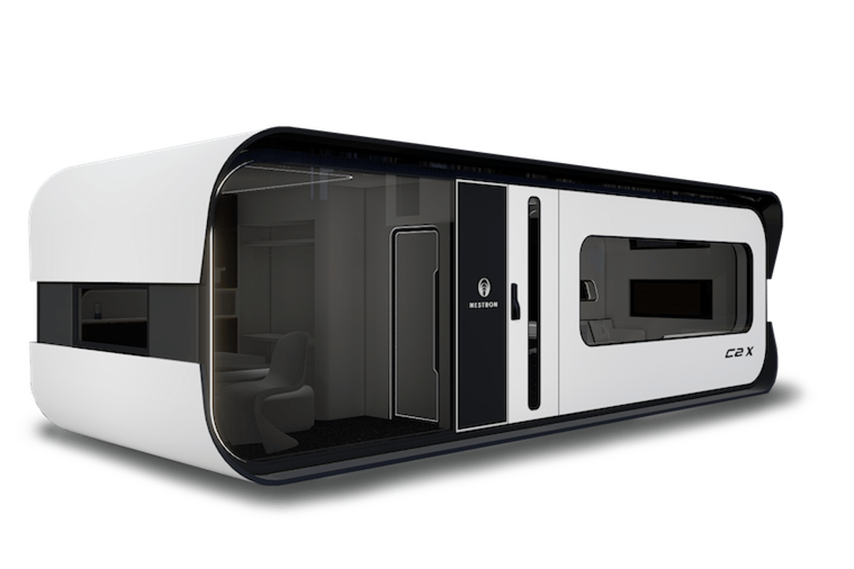 Along with more space, the Nestron Cube Two X offers more glass than the Cube Two with a floor-to-ceiling window and long window flanking the entry