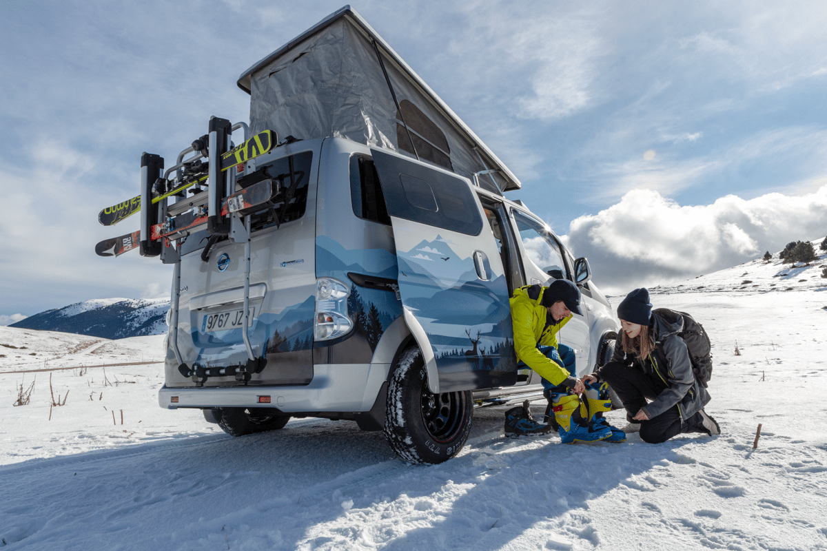 Electric power, a pop-camper conversion and a ruggedized design make for a compelling all-weather camper van
