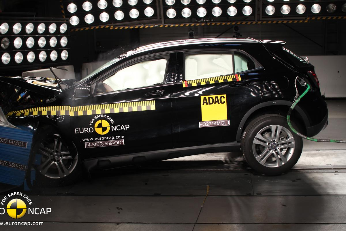 Mercedes-Benz GLA-Class shown during a frontal crash test (Photo: Euro NCAP)