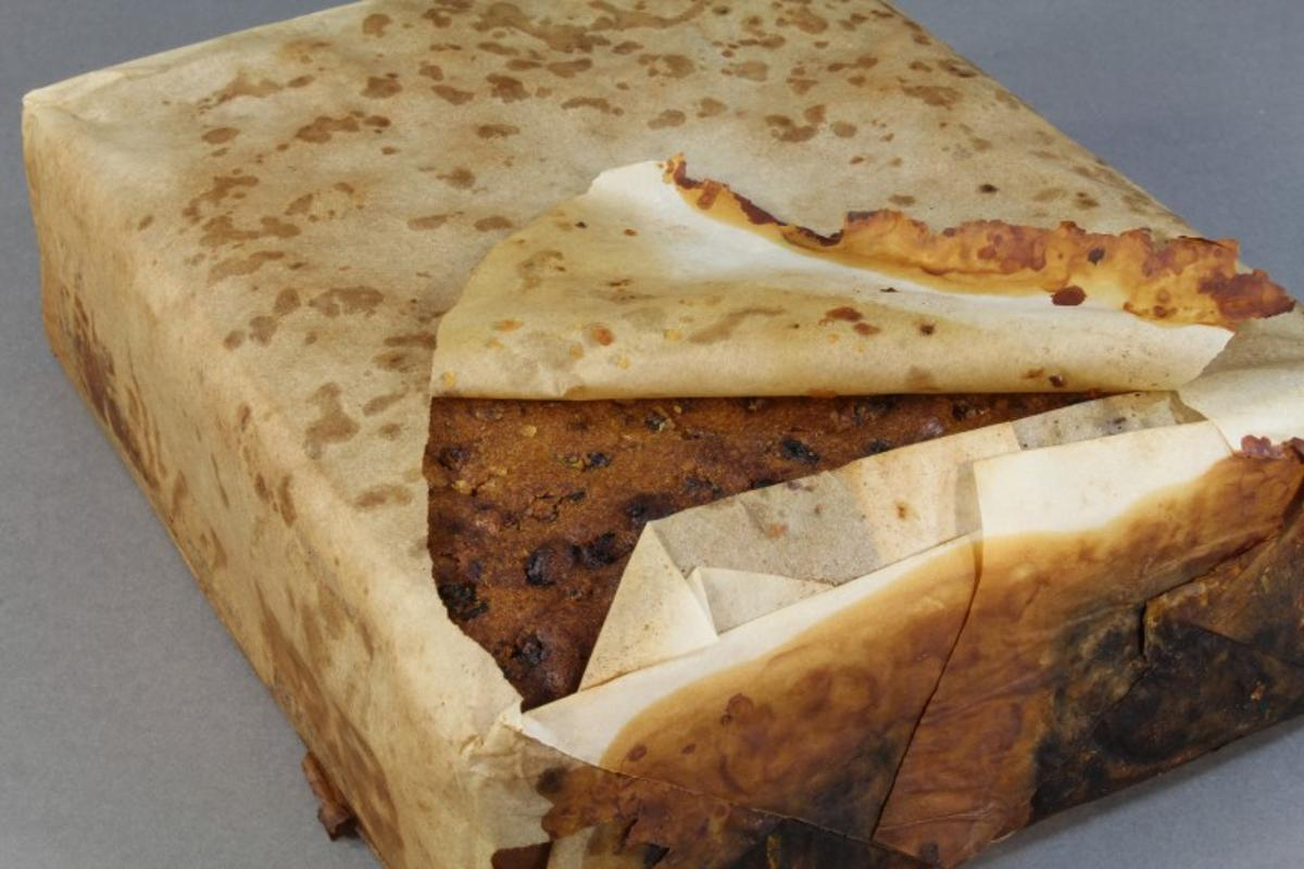 Fruit cake found at Cape Adare thought to be from Scott's Northern Party (1911)