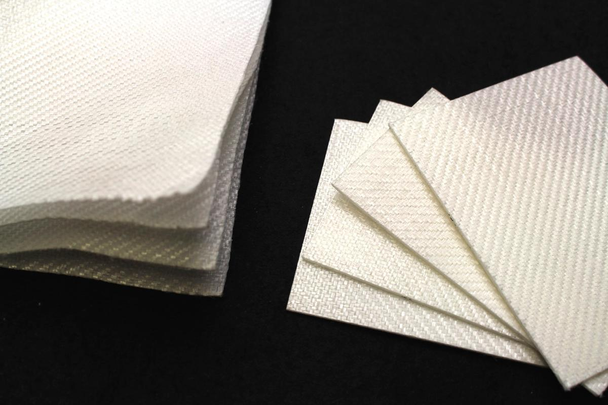 Sheets of the PLA composite material