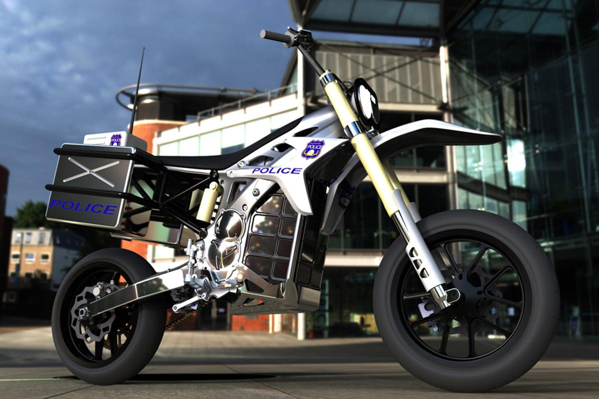 "BRD's electric off-road motorcycle range includes ""stealth"" police bike"