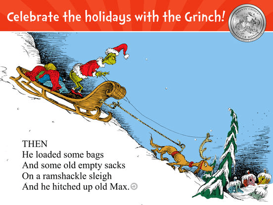 Read an interactive version of the Dr. Seuss Christmas classic on a smartphone or tablet