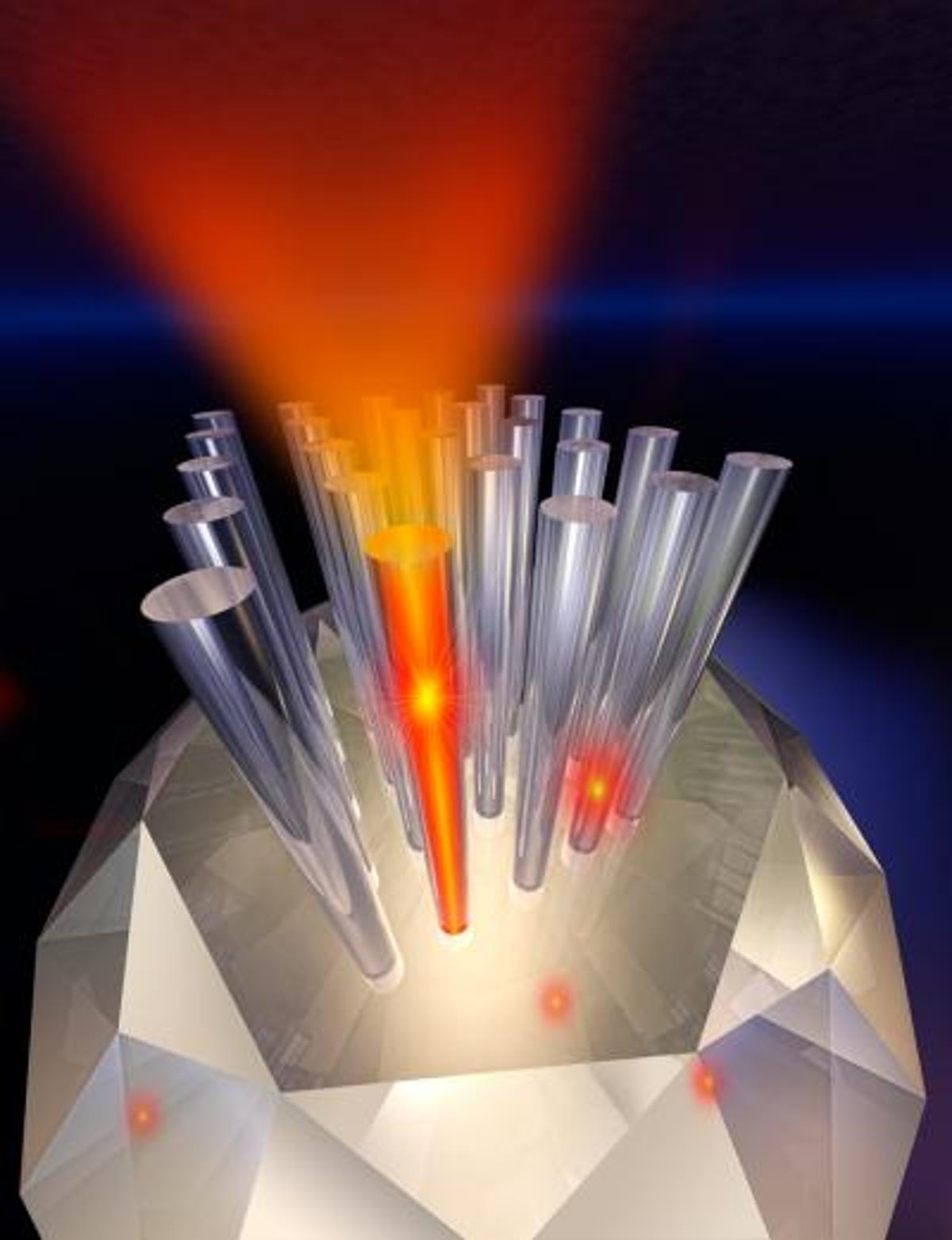 A diamond-based nanowire device (Illustrated by Jay Penni)