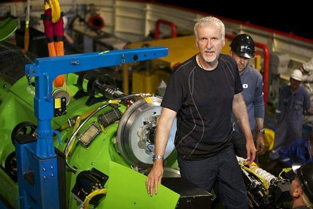 James Cameron prepares to enter Deepsea Challenger just prior to beginning his record-setting dive to the Challenger Deep (Photo: National Geographic)