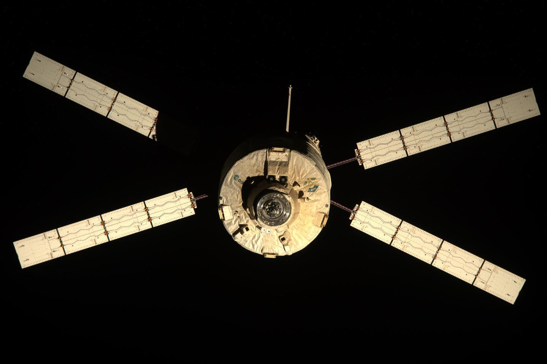 The Automated Transfer Vehicle Edoardo Amaldi leaving the ISS (Image: NASA)