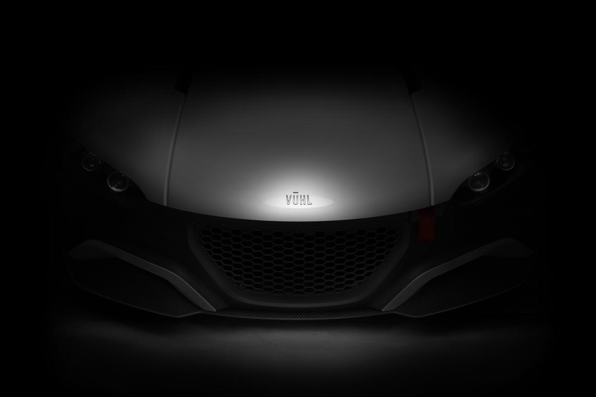 Teaser image of the VŪHL 05 supercar