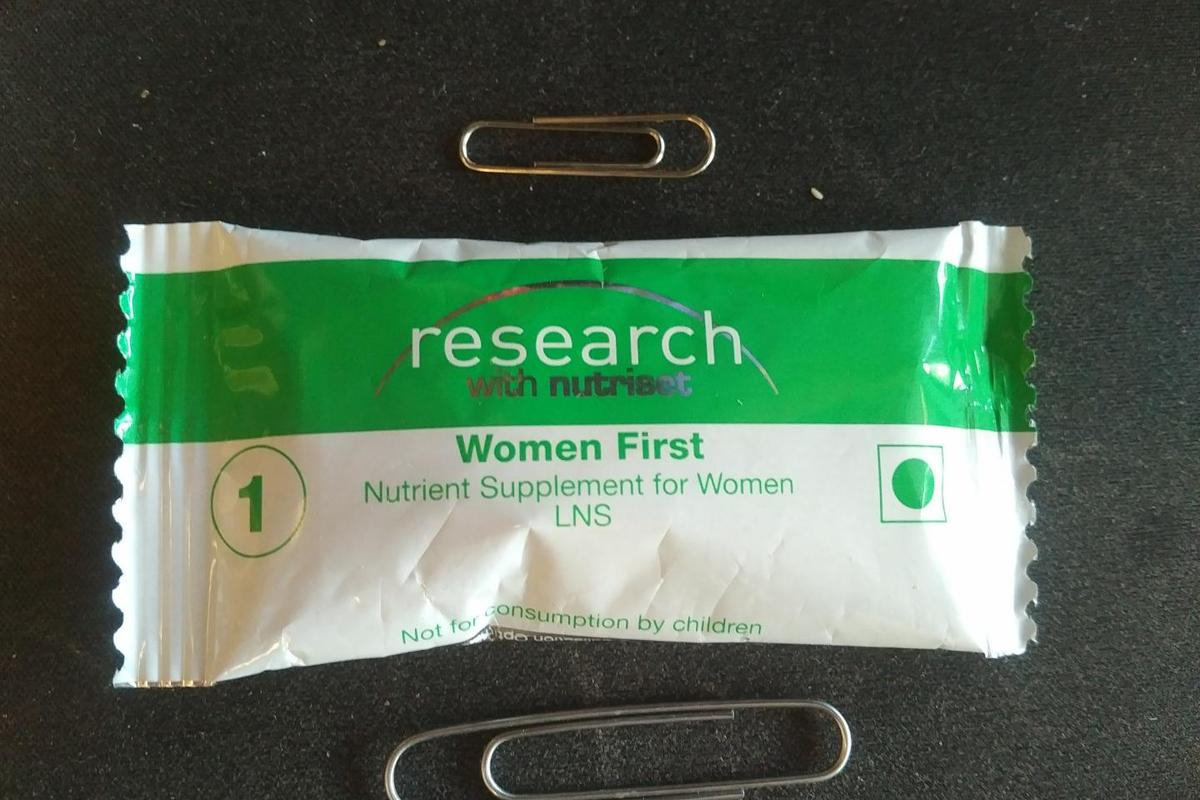 Each daily dose of the Women First supplement weighs less than an ounce