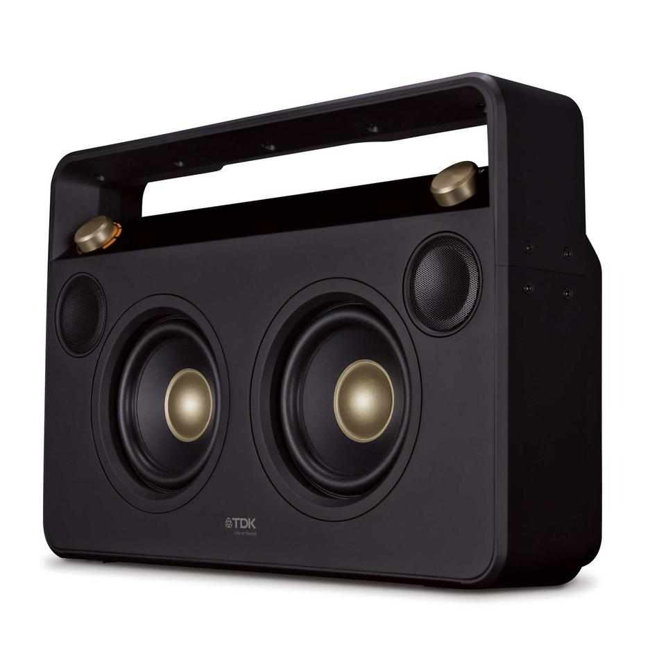 The new Wireless Boombox features two 2-inch full range drivers and two 5.25-inch passive radiators to the front, and one 5.25-inch subwoofer at the rear