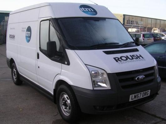 The Roush modified Transit Van.