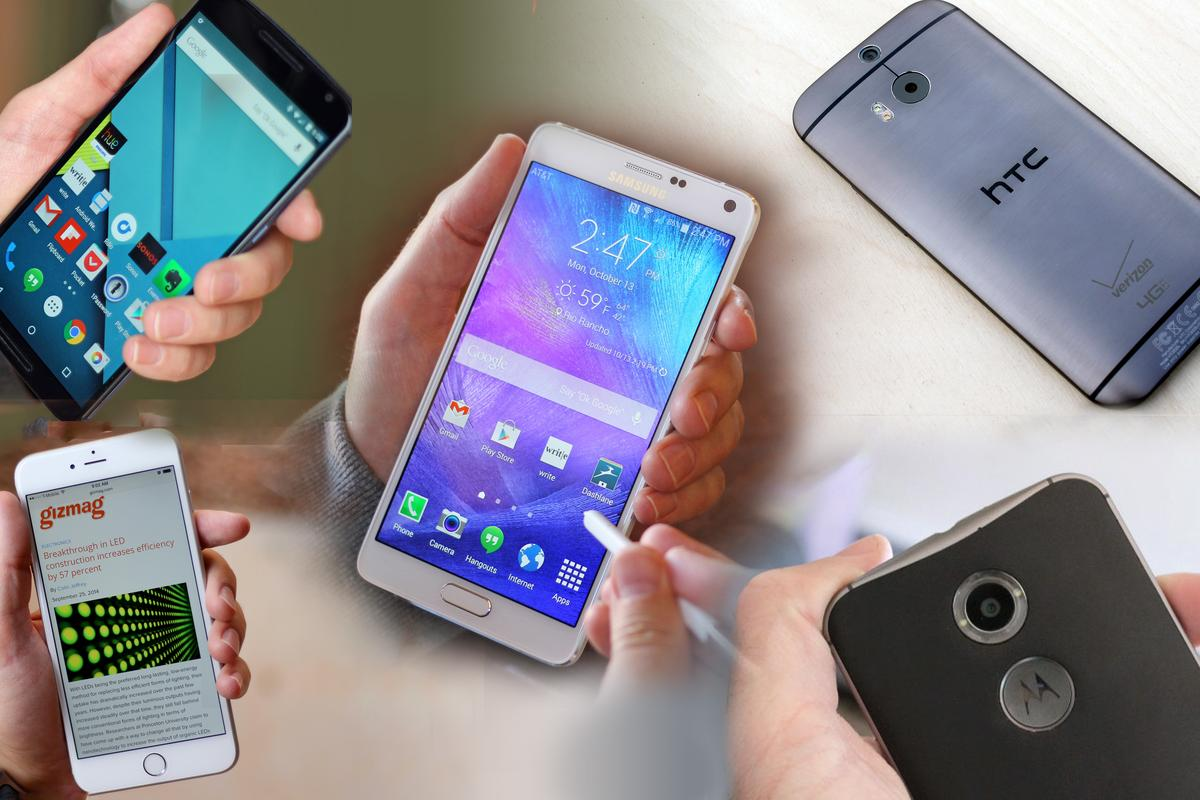 The Gizmag mobile team picks its five favorite smartphones of 2014 (Photo: Gizmag.com)