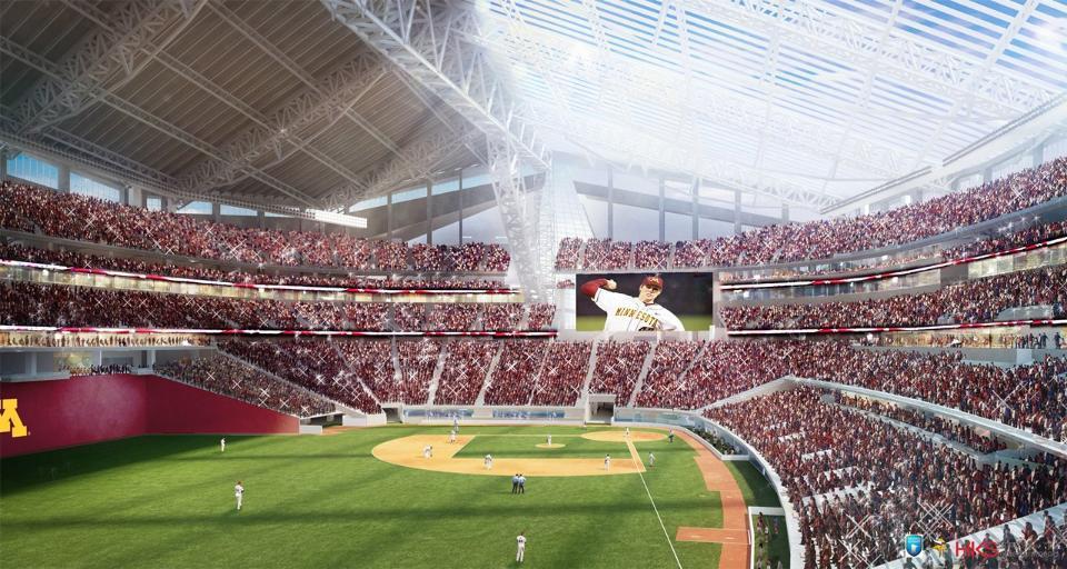 Viking Stadium hosting a University of Minnesota baseball game