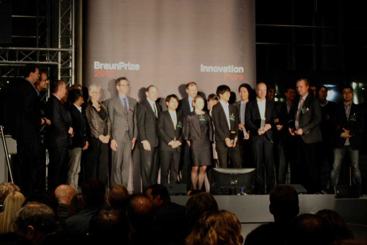 The 2012 BraunPrize winners and jury