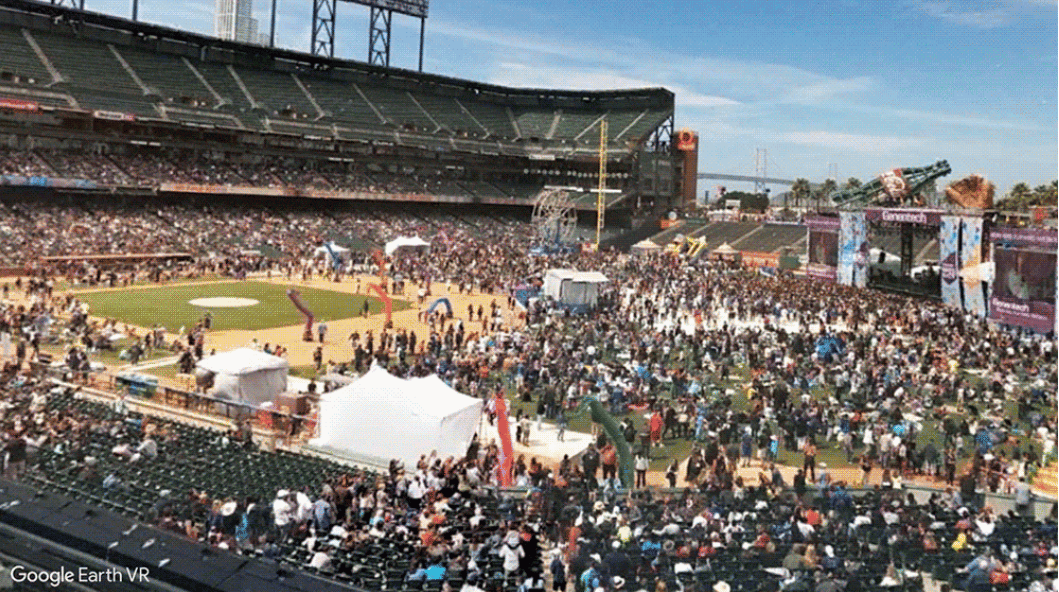 With plenty of places to explore, Google has a couple of suggestions to get started, includingSan Francisco's AT&T Park