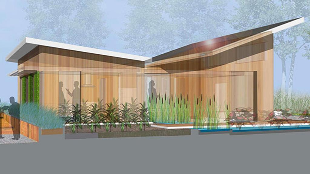 The WaterShed is the University of Maryland's entry in the 2011 Solar Decathlon