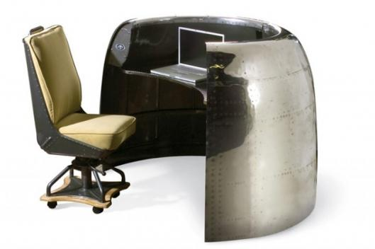 The MotoArt DC-6 cowling airplane desk preserves aviation history in a distinctively modern way