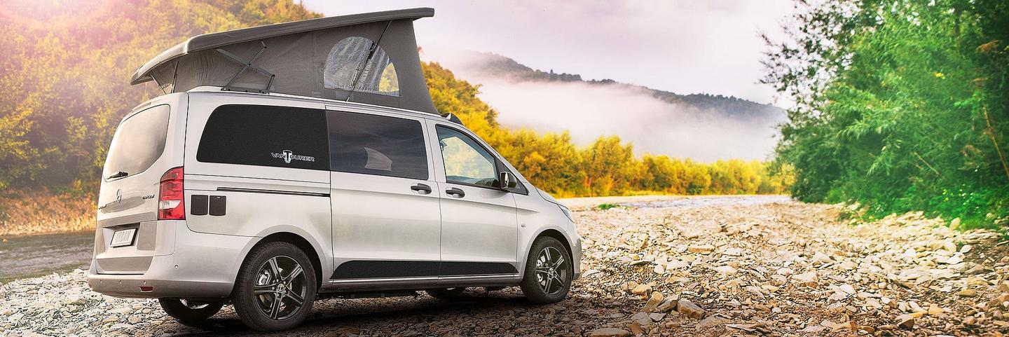 VanTourer presents a sleek, compact pop-top based on the Mercedes-Benz Vito