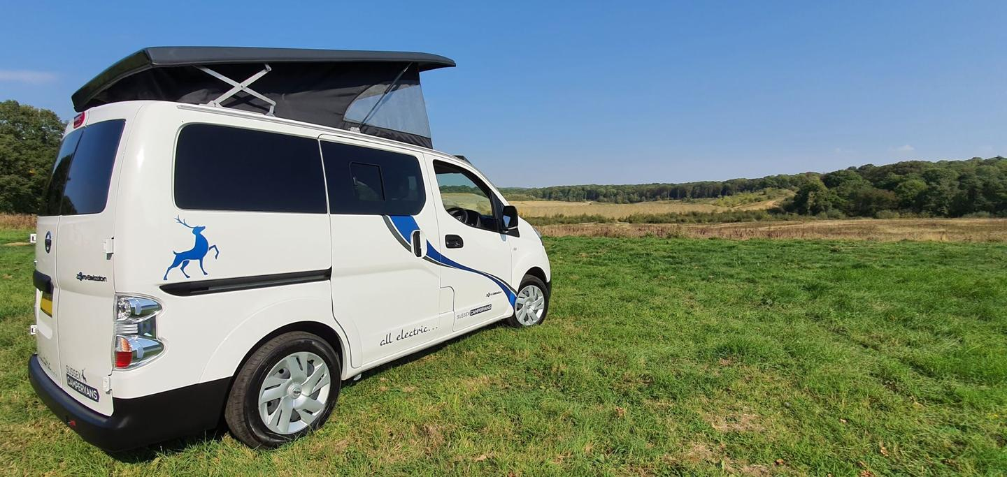 The Nissan e-NV200 Camper Car is a compact, efficient way to tour the countryside