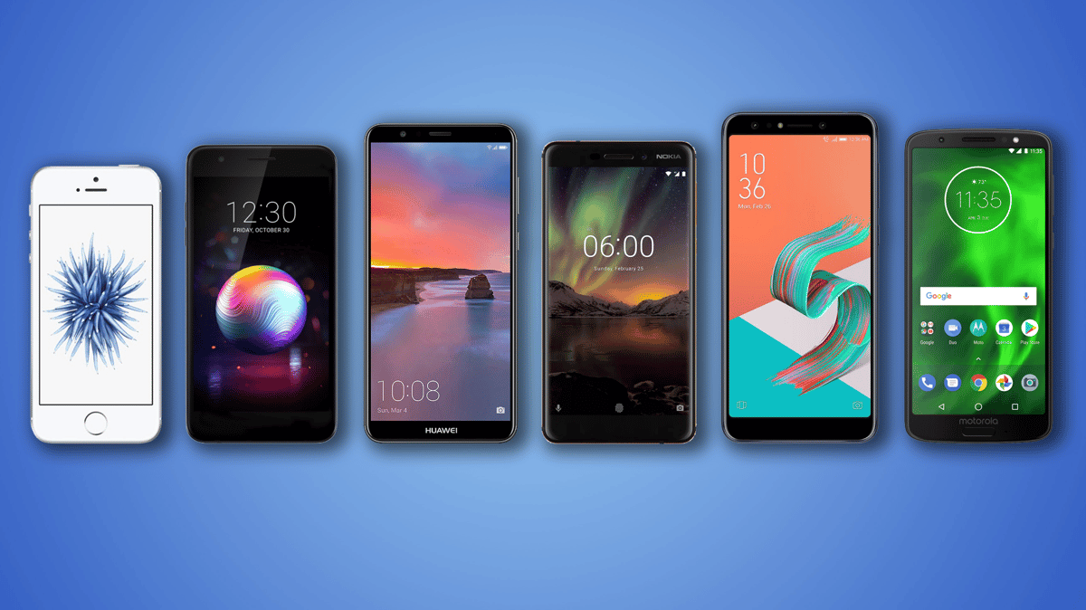 New Atlas compares the specs and features of six budget smartphones: the iPhone SE, LG K30, Huawei Mate SE, Nokia 6.1, ZenFone 5Q and Moto G6