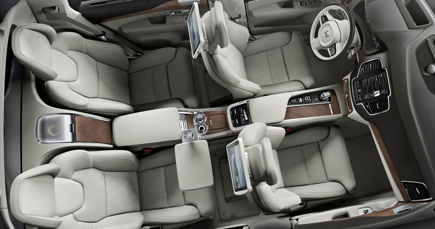 The Volvo XC90 Excellence is a strict four seater
