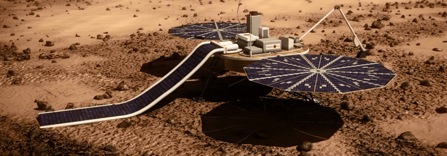 Unmanned lander designed to act as vanguard for the Mars One settlement