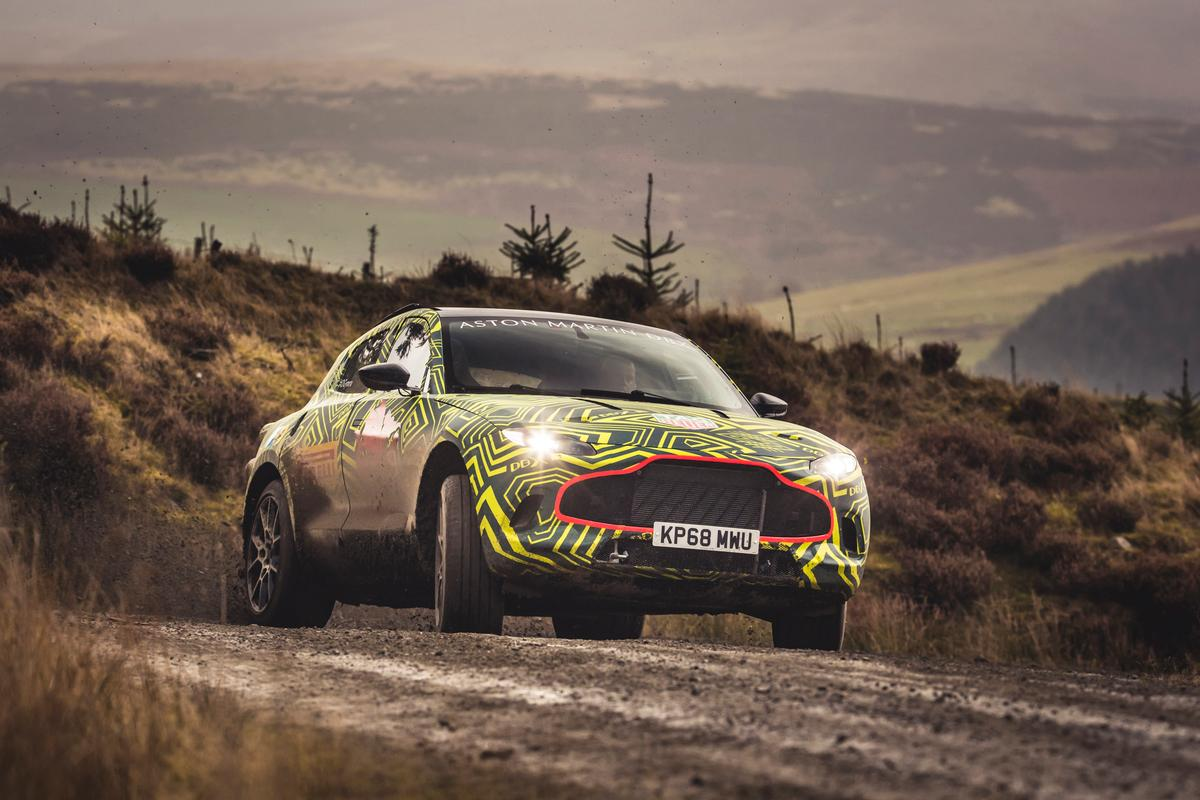 Aston Martin's DBX Prototype getting put through its paces by Chief Engineer Matt Becker