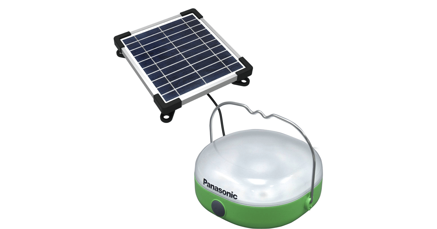 The Panasonic solar lantern can also charge small electronic devices
