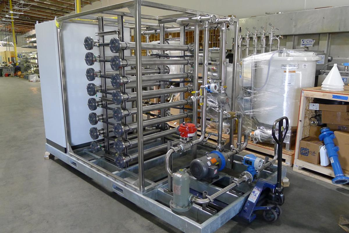 One of OriginOil's 75 GPM (300 LPM) flocculation units