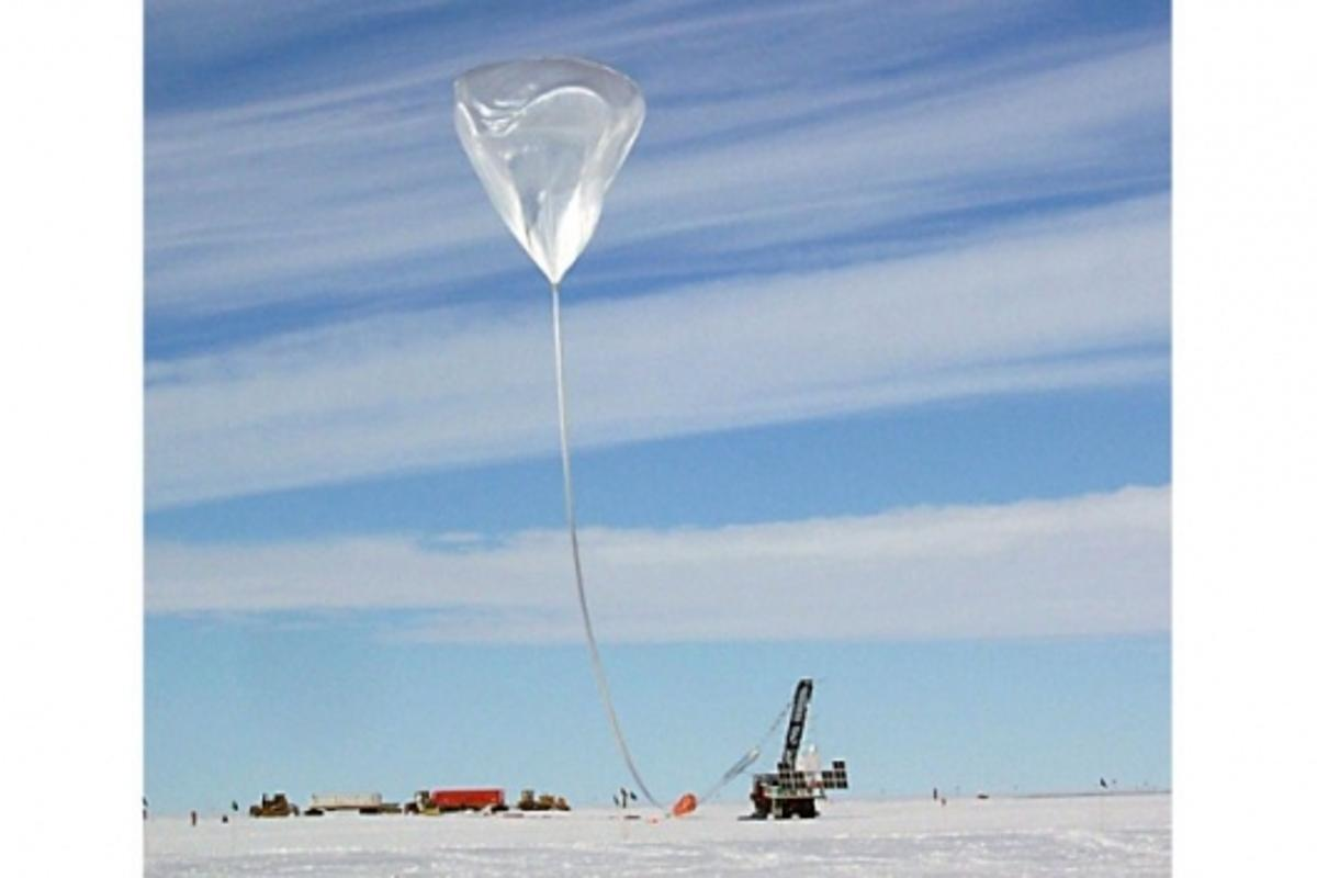 The Cosmic Ray Energetics And Mass (CREAM) payload is launched near NSF's McMurdo Station, Antarctica.Photo: NASA