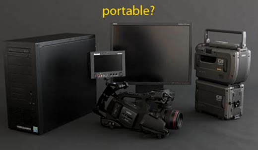 An example of the kind of recording equipment a film-maker might need to carry around