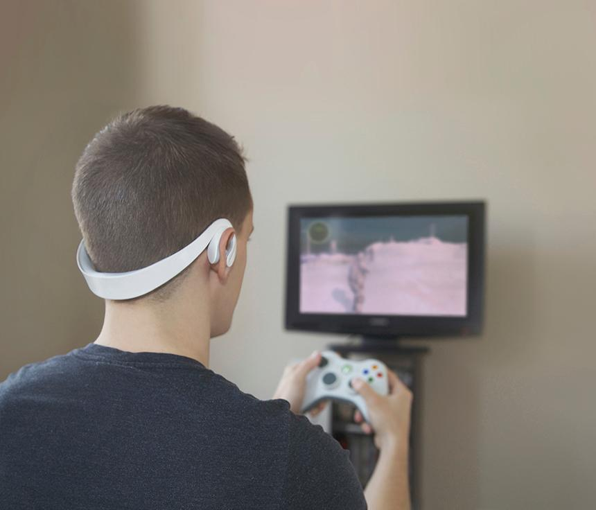 Designer Sam Matson has created a headset that increases the difficulty of a game the more angry a player gets