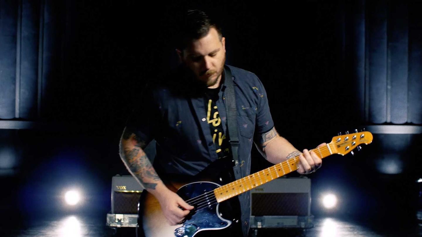 Music Man has created an Artist Series StingRay guitar in collaboration with Dustin Kensrue from alt-rock band Thrice