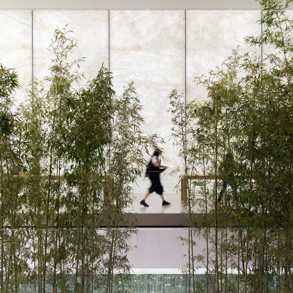 Apple Cotai Central is situated among a bamboo grove