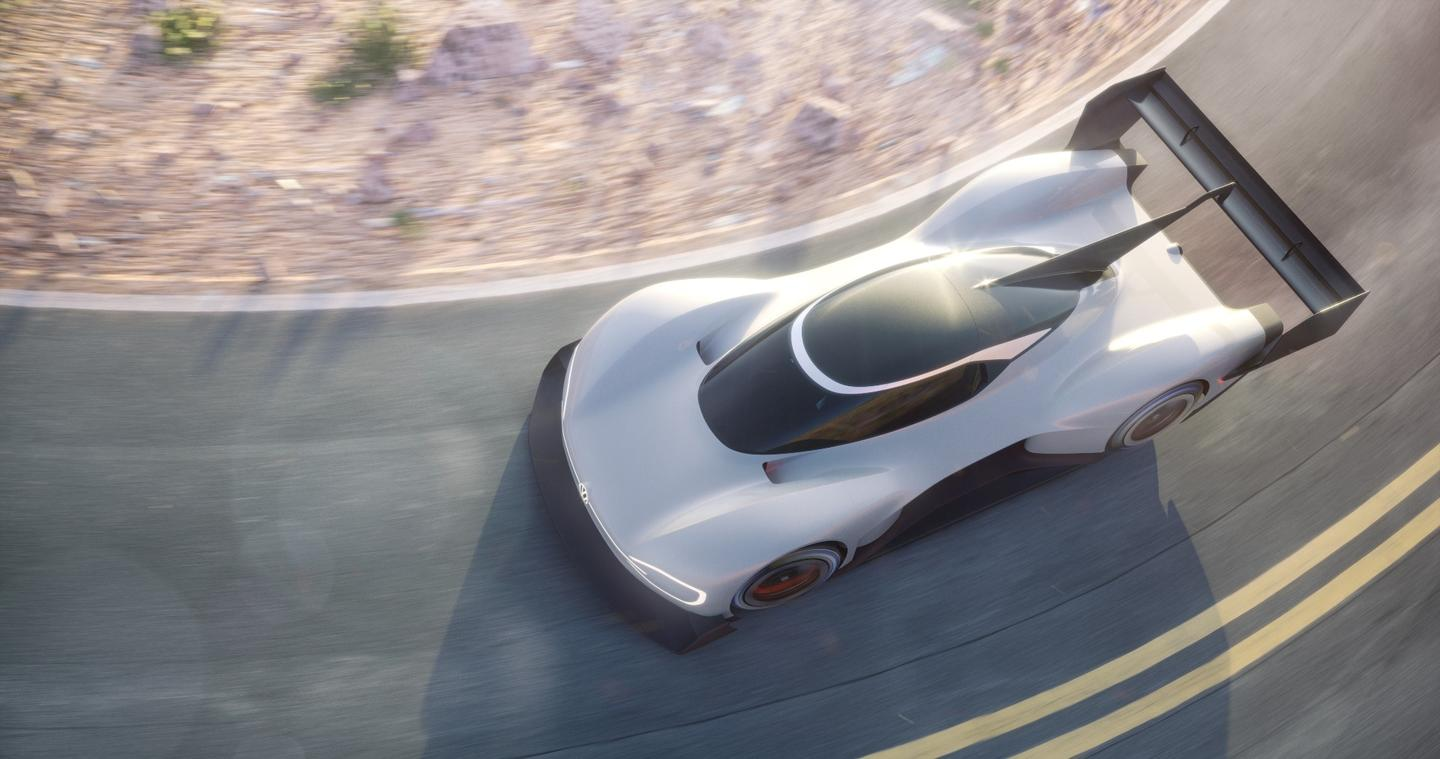 Volkswagen has peeled back the curtain a little further on its intriguing all-electric race car