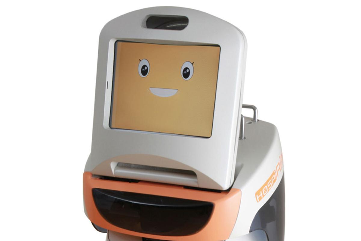 Panasonic's new HOSPI-Rimo communication assistance robot