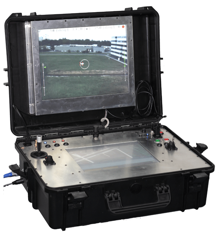 The DroneCatcher is remotely piloted using an included ground control station