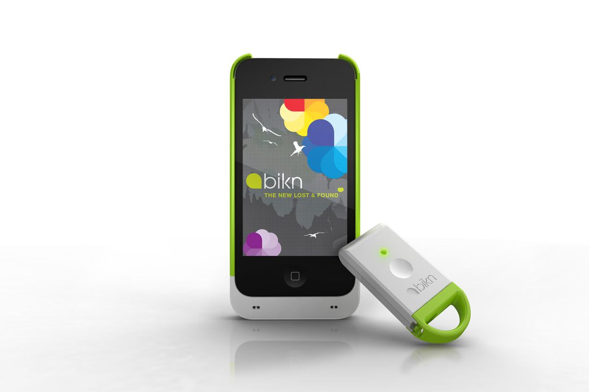 BiKN is a system that allows iPhone users to track or relocate up to eight items at once