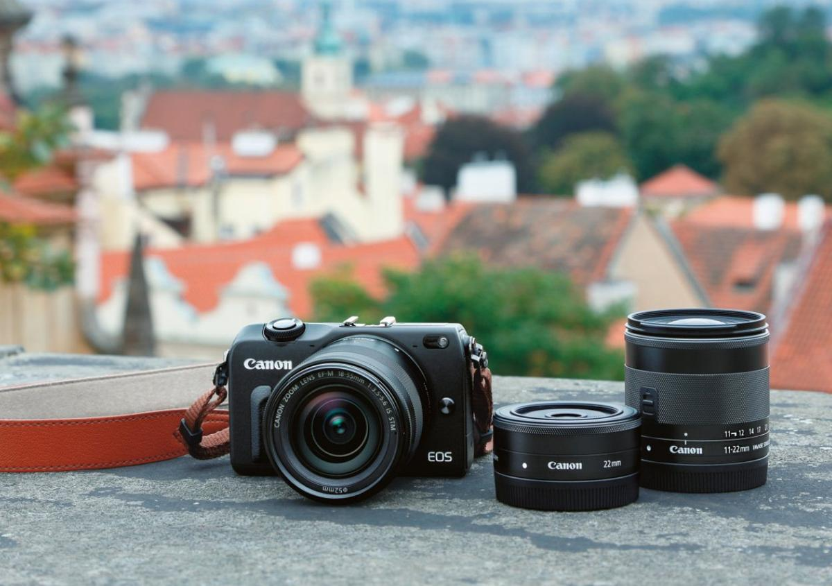The Canon EOS M2 mirrorless interchangeable lens camera
