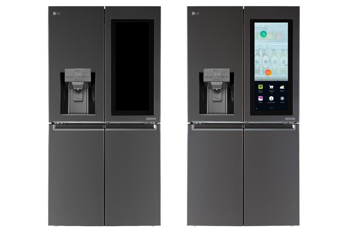 LG's Smart InstaView Door-in-Door refrigerator lets you see what's inside from near or far