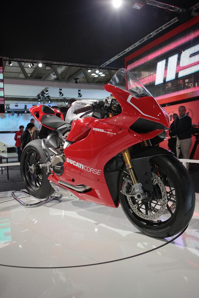 Ducati's 1199 Panigale at EICMA