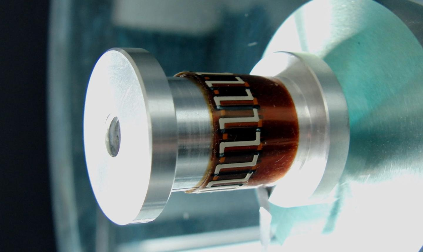 Some of Fraunhofer's printed thermoelectric generators, wrapped around a sample component