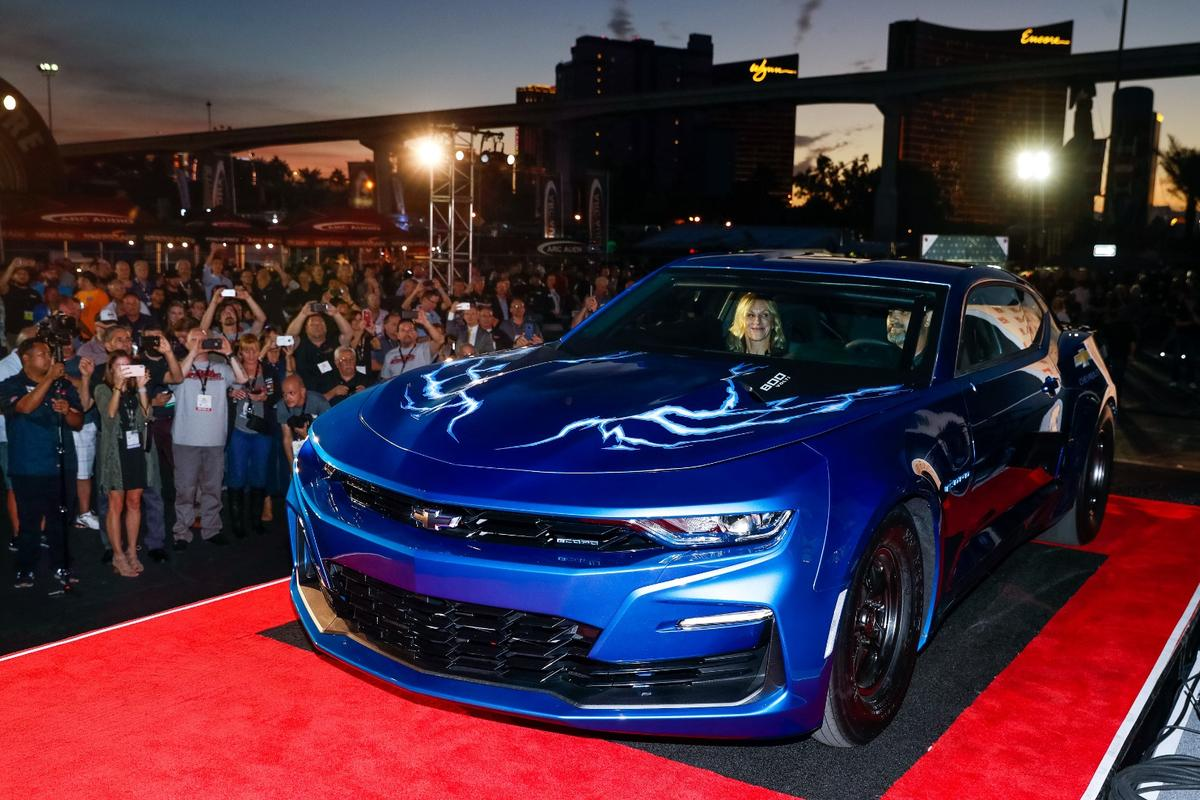 Chevy debuts the eCOPO Camaro at the 2018 SEMA Show