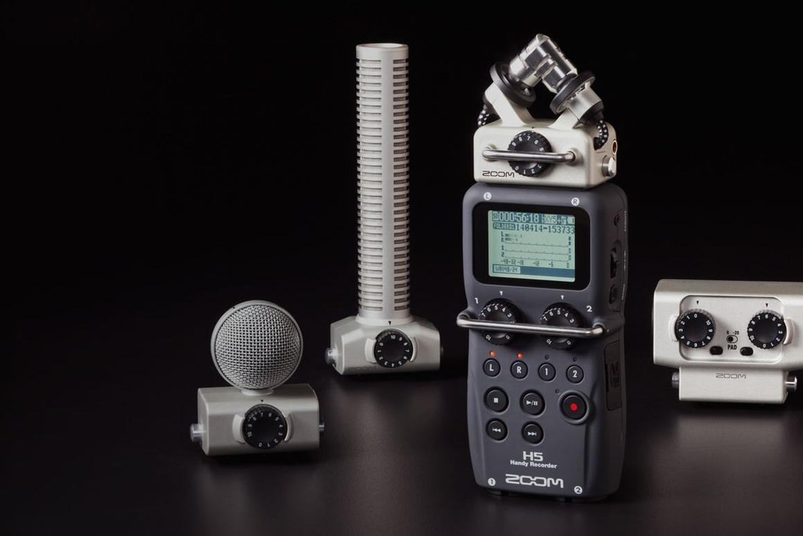 Head-changing H5 Handy Recorder breaks cover